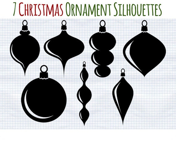 Christmas Ornament Silhouettes silhouette ornaments — crafthubs