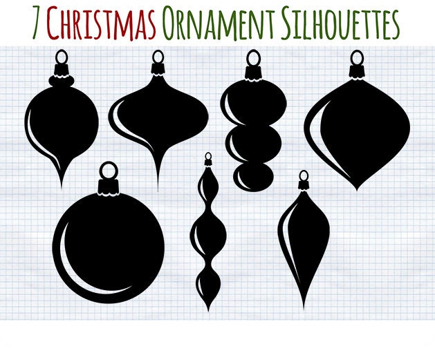 Christmas Clip art Black and White clipart Ornament