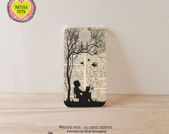 3D case Little girl reading book on dictionary page 3D iPhone case 4/4S- iPhone 5/5S - Galaxy S4 case - Design by Natura Picta-NP3D020