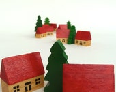 Wooden Wonderland - Two small houses and one tree
