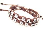 Date Bracelets, Roman Numerals Bracelets, Anniversary Date Bracelets, Couples Bracelets, Couples Gift,