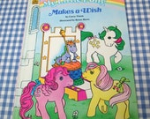 my little pony makes a wish, vintage 1986 children's book
