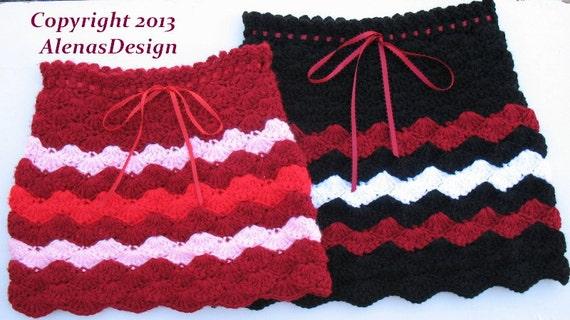 Crochet Pattern 073 - Crochet Skirt Pattern - Skirt Crochet Pattern for Striped Skirt Julia  2, 4, 6, 8 years Toddler Children Girls Easter