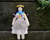 Needlefelted Waldorf Doll. Mountain Child Series 004. Handmade Penny Doll by alyparrott on Etsy.