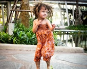 Cute toddler girl jumpsuit orange romper overalls size 3T age 24-36 months gift