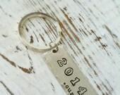 Personalized Graduation Key Chain for Boys . Graduation Gift . Grad Key Ring . Custom Grad Gift . Name Key Ring