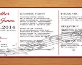 Music Staff Wedding Program PRINTABLE / DIY