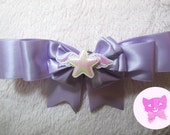 Lavender Magical Girl Starry Bow Brooch