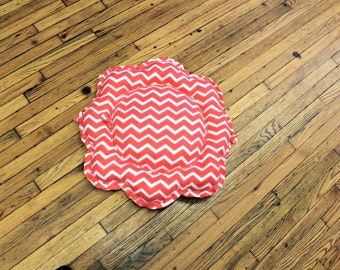 Chevron Dog Bed XSmall/Small Fleece Pink