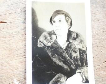 "Vintage Photo ""Faraway Eyes"", Photography, Paper Ephemera, Snapshot, Old Photo, Collectibles 1383 B"