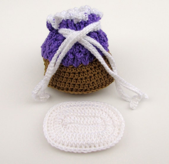 Crochet Cradle Purse in Grape and Brown by ...