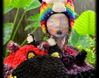 Handmade Crochet Cat Eared Beanie - Handmade To Order in a Variety of Colours and Styles
