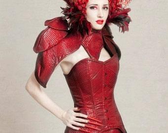 Red Queen Beaded Headpiece