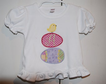 Personalized Easter egg applique shirt
