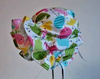 Baby Bonnet - Baby Sun Hat - Easter Bonnet - Cotton Sun Bonnet - Toddler Sunhat - Made To Order Size Newborn To 24 Mo Urban Zoologie