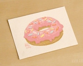 2.5x3.5 Original painting | ACEO | Small painting | Doughnut