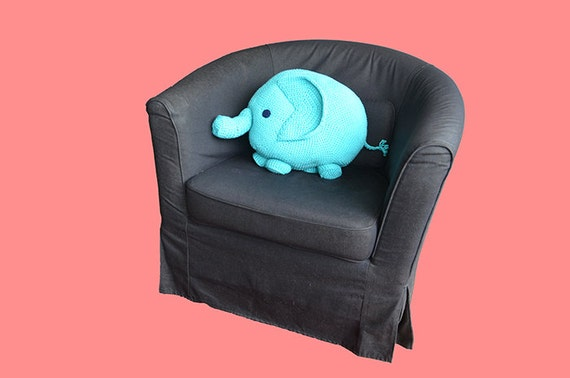 Large Animal Shaped Pillows : Elephant Pillow Crochet Pattern Crochet Elephant Amigurumi