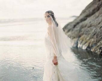 Wedding Veil, Circle Veil, Drop Veil, Fingertip Length Veil with Blusher, Bridal Veil, Veil ONLY - MADE to ORDER - Style 2914