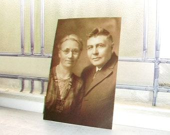 Vintage Photograph 1920s Older Couple