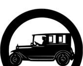 Model A Antique Car Metal Yard Stake 3' Tall