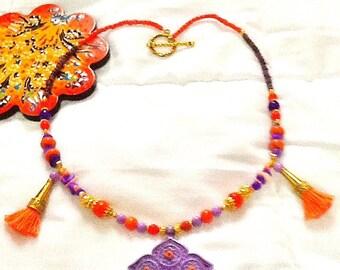 SALE------ MARAKKESH NECKLACE - Moroccan style jewelry- Tribal Necklace-Belly Dancing Jewelry-Bohemian Jewelry