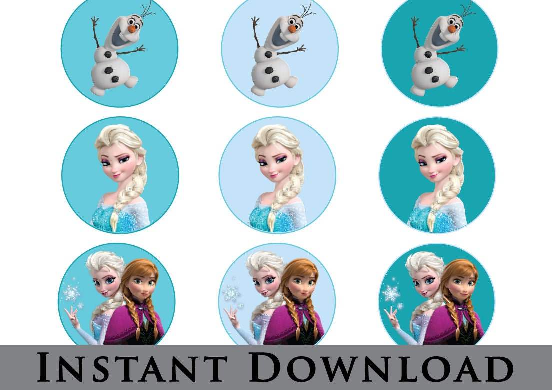 Frozen Cupcake Toppers Instant Download