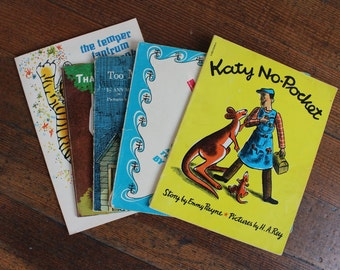 Instant Collection - Set of 5 Vintage Scholastic Books, Katy, That's What Friends Are For, Too Much Noise, Katy No-Pocket, Temper Tantrum