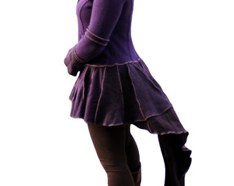 SALE 80% OFF! Upcycled sweater coat, wool and cashmere, purple colors