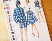 60s Jacket, Skirt, and Blouse Pattern Simplicity 5836 Misses Size 18 Bust 38 Vintage Sewing Pattern Medium M Large L