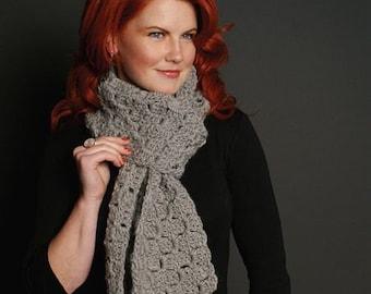 Box Stitch Chunky Scarf Crochet Pattern