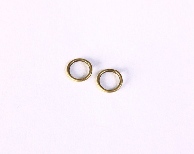 6mm Petite antique brass jumprimng - open jump rings - round jumprings (1400) - Flat rate shipping