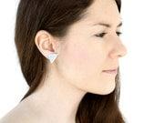 Silver mint  studs . Everyday Earrings, Post earrings Minimalist earrings