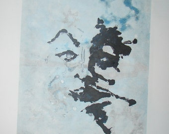 ORIGINAL ART - Unique Monotypes - ABSTRACT and One Of A Kind! Face - Portrait - Rosarch