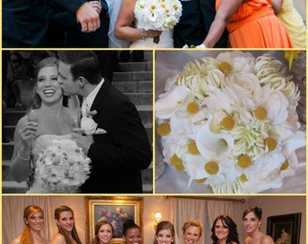 CUSTOM Real Touch Wedding Flower Package,  made to order, destination