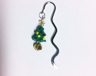 Christmas Tree Lampwork Bookmark
