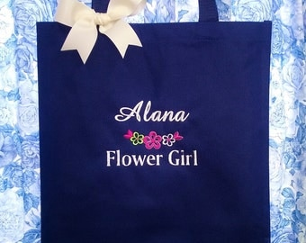 Personalized Tote Flower Girl Bag Wedding Birthday Dance