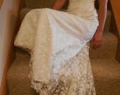 Vintage bridal gown.  Oleg Cassini.  Small, size 4.  Sale.