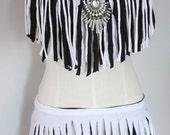 Queen of the tribe custom rave costume fringe set 34C/S-M