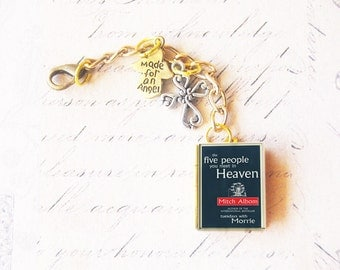 Custom book keychain or bag charm - personalized book locket