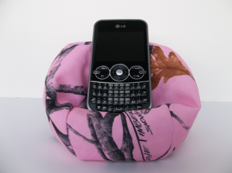 Cell Phone Bean Bag Chair Pink Camo True Timber Snowfall Pink