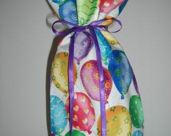 Wine Bottle Gift Bag Birthday Balloon Party Print