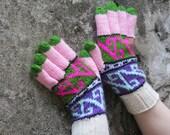 Gloves Mittens Unisex, Multcolor Knit Gloves, Women's Winter Cozy Gloves, Gloves Teens, Arm Warmer, Knitted Accessories, Wrist Warmer