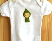 Wood Elf Woodland Forest Friends Shirt, Felt Applique Baby Bodysuit / Organic Toddler Childrens T-Shirt, Cute Baby Clothes, Hipster Baby