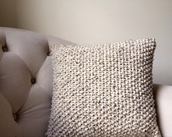 Knit Pillow Cover / Decorative Knitted Pillow