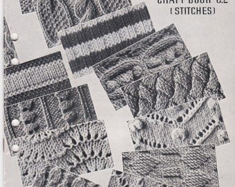 Patons Craft Book - Stitches C 2 - Vintage Knitting Book 1950's