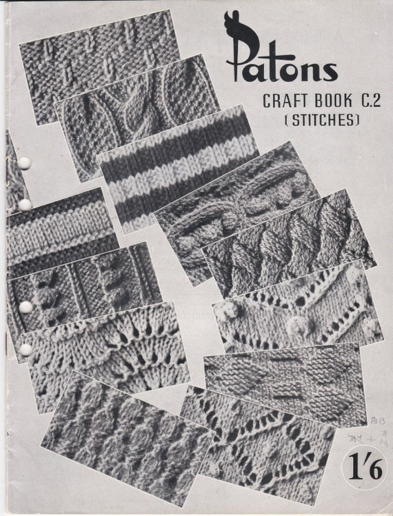 Vintage Knitting Books : Patons craft book stitches c vintage knitting