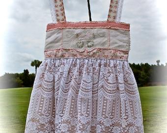 Boho Babydoll Dress Mori Girl Dolly Kei Sweet Shabby Chic Gypsy Cowgirl Chic