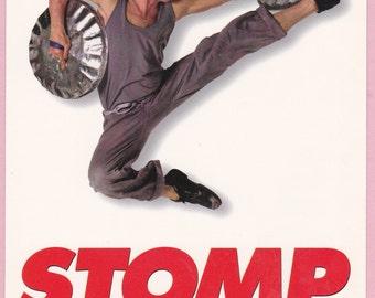 "Large Ca. 1990s ""Stomp"" Musical Advertising Postcard - 202J"