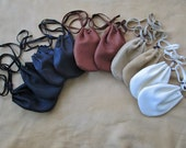 1 Drawstring Leather Pouch/Bag, Deerskin - Choose Your Color, Listing for ONE Pouch Only -