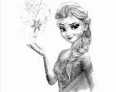 FROZEN - ELSA pencil drawing